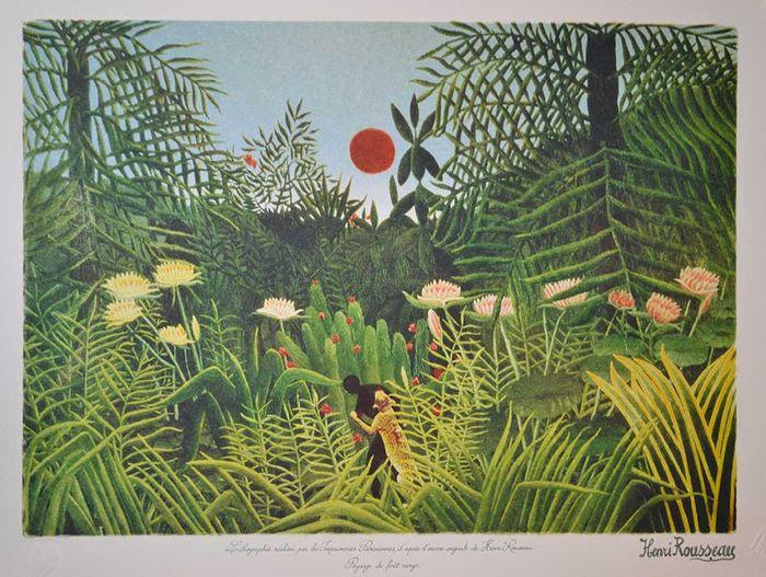 Henri Rousseau-paesaggio-foresta-vergine