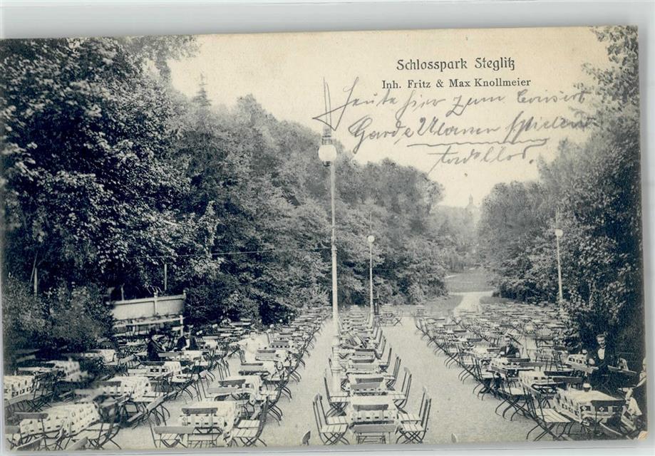 Steglitz 1900 Gasthaus Schlosspark Knollmeier