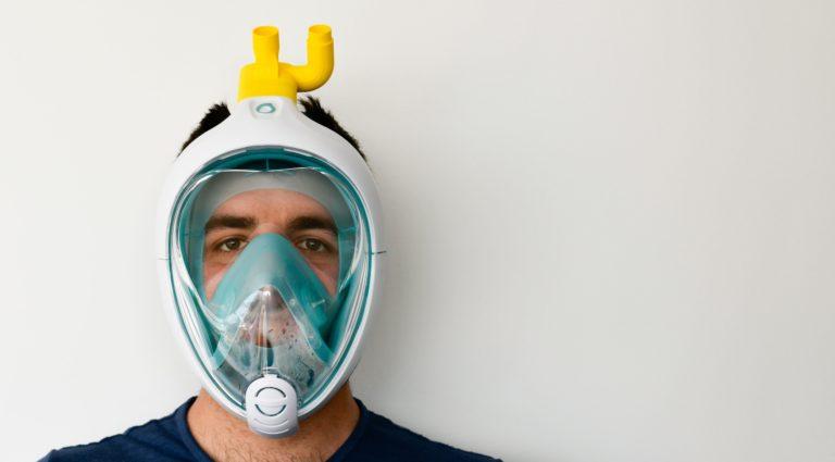 Charlotte, il respiratore nato da una valvola 3D e una maschera snorkeling contro il Covid-19