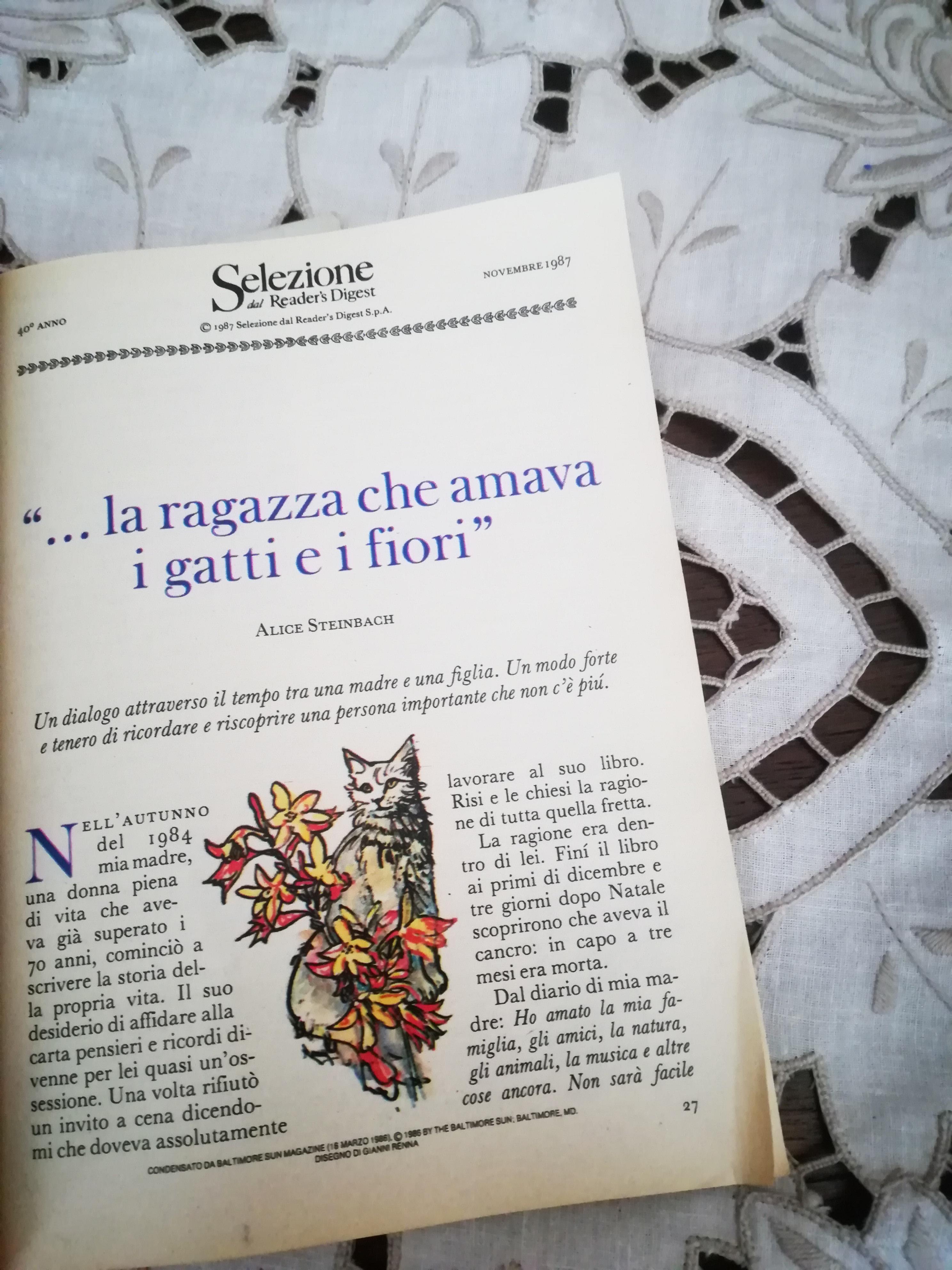 Diario di vita, ovvero storia di una ragazza che amava i gatti e i fiori